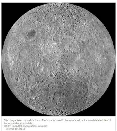 普段見ることができない月の「裏側」の写真をNASAが公開