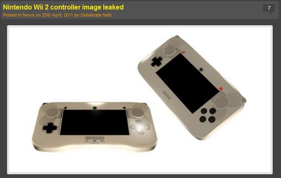 Wii2のコントローラーが早くもリークされる!? ネットユーザー「どうみてもネタでしょ」