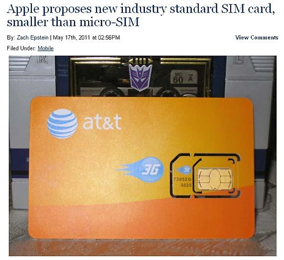 アップルが新たなSIM規格を提出、今後はアップル専用SIMが必要になる