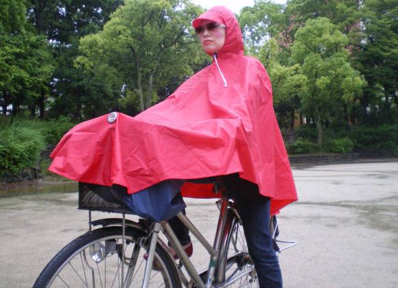 中国の「自転車用レインポンチョ」を試してみた / 激しくダサいが、かなりイイ!