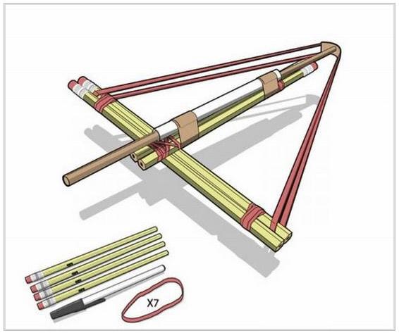鉛筆クロスボウの作り方