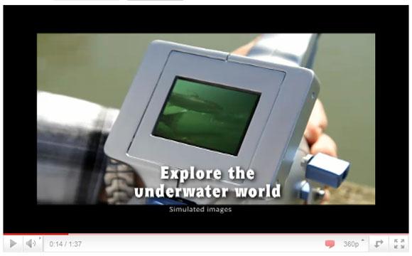水中でエサにパクつく魚が丸見え! カメラ付き釣り竿「FISH EYES」