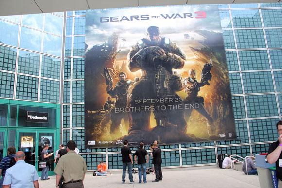 【E3現地取材】どのゲームよりも圧倒的人気だった『Gears of War3』が超すげえ! プレイに長蛇の列!