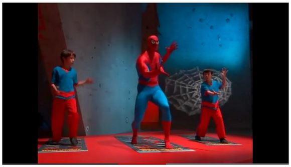 なんともシュールなスパイダーマンのエクササイズビデオ