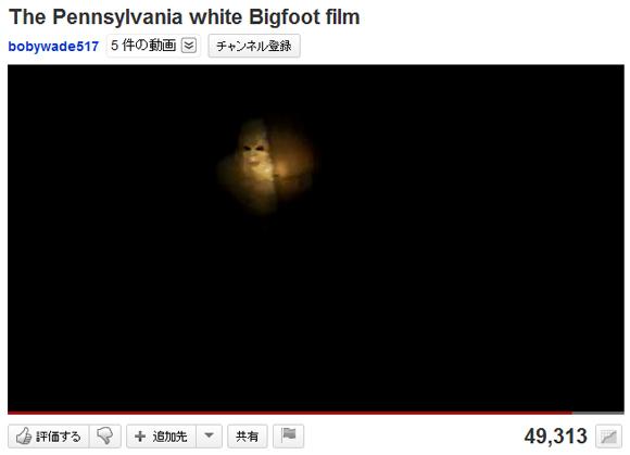 【衝撃映像】あまりにも人間くさい動きをする「ペンシルバニアの白いビッグフット」