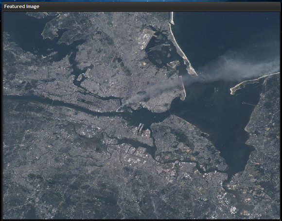 国際宇宙ステーションから見た9.11アメリカ同時多発テロ事件の写真をNASAが公開
