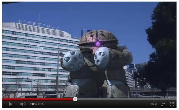 名古屋駅前にはアッガイがいる!?