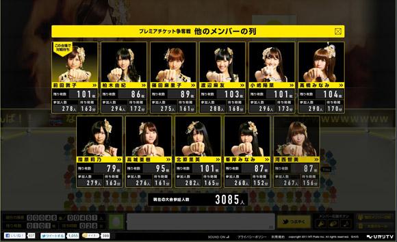 本日最終日! AKB48相手に「プレミアチケット」争奪じゃんけん大会開催中