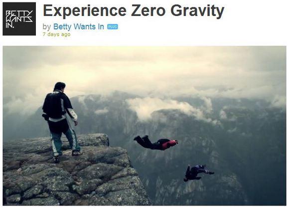 大自然の中へスーパーダイブ! 高さ約1800メートルの崖から飛び込む映像がとても幻想的