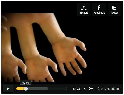 【衝撃映像】芸術的な「手のイリュージョン」動画がキモイ