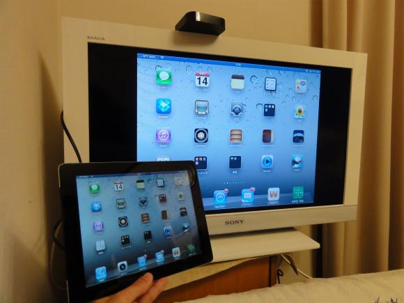 【祝 iOS5】 早速、iPadの画面をテレビにミラーリングしてみた!iPadをテレビで見るって最高!