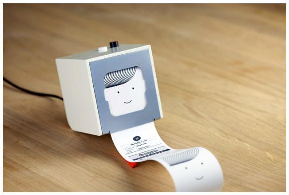 なにこれカワイイ! レシートサイズのプリントができる超小型ワイヤレスプリンタ『Little Printer』
