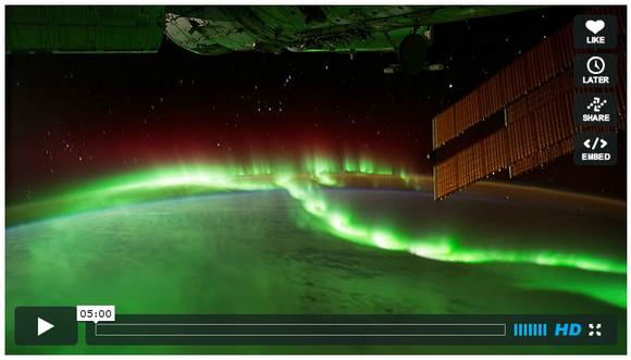 【全画面再生推奨】国際宇宙ステーションから撮影したオーロラ映像の総集編動画が本当に……美しすぎる!!