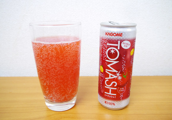 カゴメが発売したトマトの炭酸飲料「トマッシュ」が予想よりもずっとうまかった