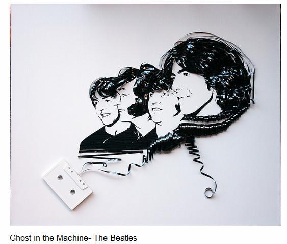 カセットテープがつむぎ出す! 磁気テープで描かれた肖像画が秀逸すぎる