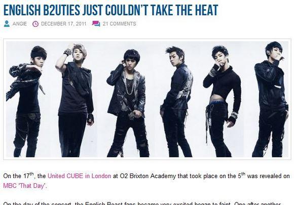 35人が失神!? 英国コンサートに登場した韓国アイドル「BEAST」を見たファンたちが興奮のあまり失神
