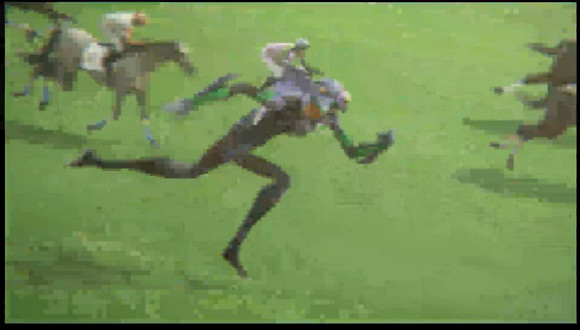 「ぬぅぉぉおおおッ!」っと武豊が乗る馬がヱヴァに変形するCMが壮大過ぎて笑った / 山田孝之verもアリ