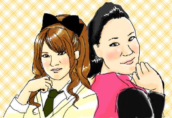 AKB48の高橋みなみとお笑いコンビ・フォーリンラブのバービーが似ていると話題に