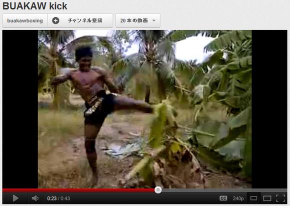 【ムエタイ最強動画】強烈キックでバナナの木を完全にヘシ折る動画が話題に