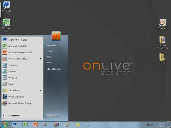 iPadでWindows7が使える「OnLive Desktop」を試してみたぞ!