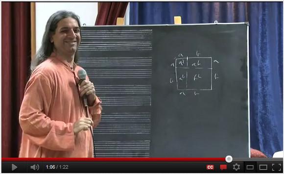 インド人プレゼンツ!! 展開の公式 (a+b)² が a²+2ab+b² になる理由がすげーよくわかる動画