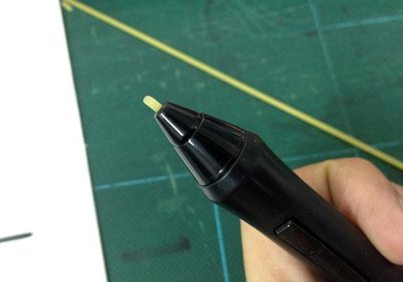 【自己責任】「ペンタブレットのペン先をパスタで作るとイイ感じ」を試してみた→中折れして取り出せず→壊れた