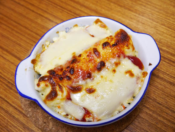 KFCの「ツイスター」と「コールスロー」にチーズをかけてオーブンで焼くと激ウマになることが判明!