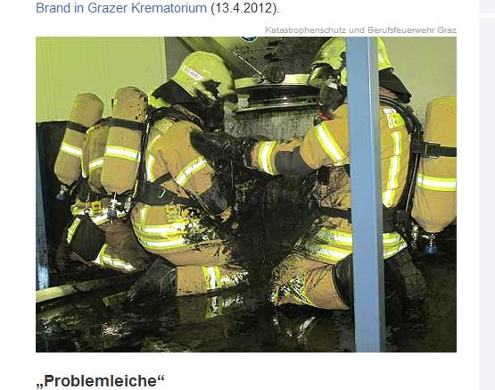 オーストリアの火葬場が全焼 !  原因は200キロの肥満ご遺体