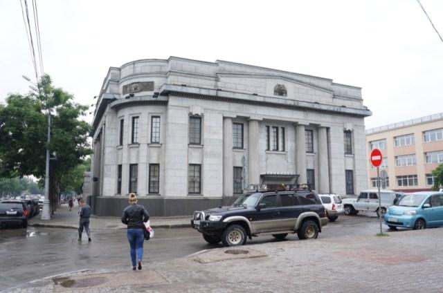 【日本の遺構】サハリン(樺太)にある旧北海道拓殖銀行に行ってみた / 石造りの外観がとても美しい