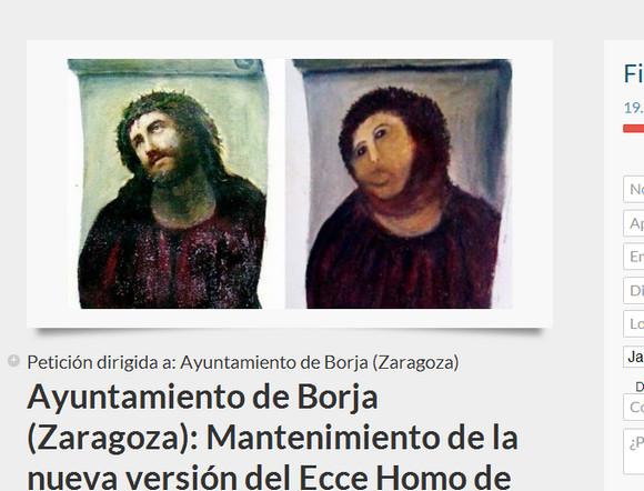 【キリスト画】おばあさんが勝手に修復した教会の壁画が人気爆発 → 「元に戻さないで」と2万人が署名