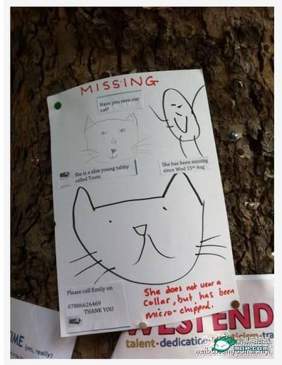 イギリス人が書いたという「迷い猫」のチラシの難易度が高すぎる / ネットの声「本当に見つかるか心配だ」