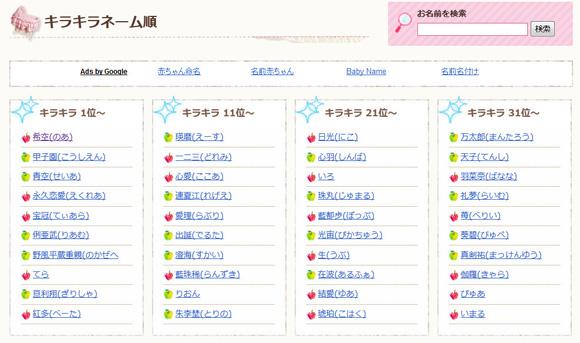 最近のキラキラネームが難読すぎてまったく読めない件 「永久恋愛」「連夏江」など