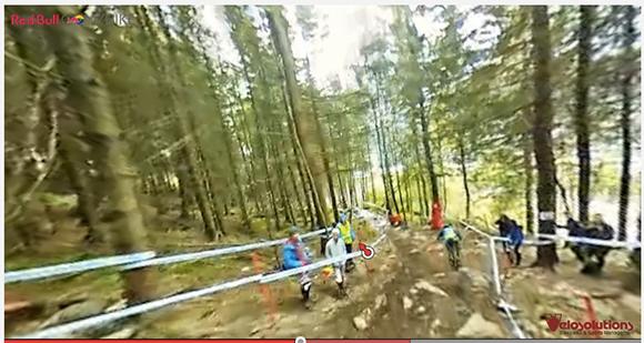 視点を360度自由自在に動かせる自転車ダウンヒル動画がスゲエ!