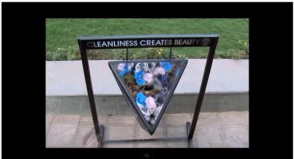捨てたゴミがキラキラの花模様になる! 万華鏡ゴミ箱が素敵すぎる
