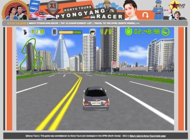 平壌の街をドライブできる無料ゲーム「ピョンヤンレーサー」を北朝鮮の旅行代理店が公開中
