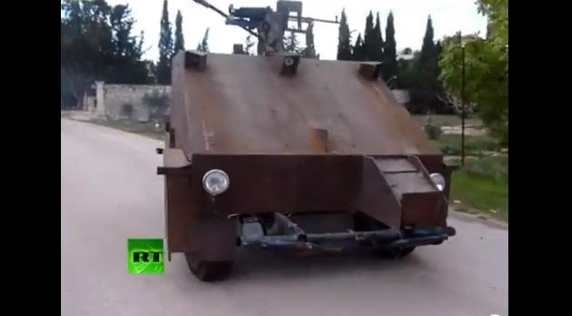 シリアの反政府勢力が自作した最新鋭の装甲車「シャーム2」がスゴイと話題に / 機関銃はプレステのコントローラーで制御