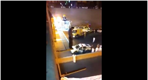 【アラブ】消防士が自殺しようとした男を見事救助! だがその方法がかなり荒っぽいと話題に