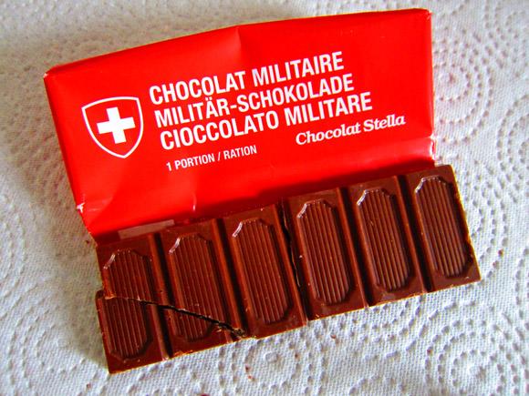 スイスミリタリー専用のチョコレートを手に入れた! 食べた! うまかった!