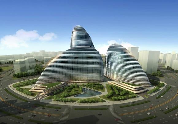 【中国】建築界の権威ザハ・ハディッドが手がけるビルのパクリ版が本物を上回るペースで建設中