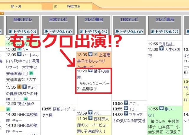 2月11日の『徹子の部屋』に大人気アイドル「ももクロ」が出演!? ネットの声「キタコレ!!」「地獄絵図しか見えない」
