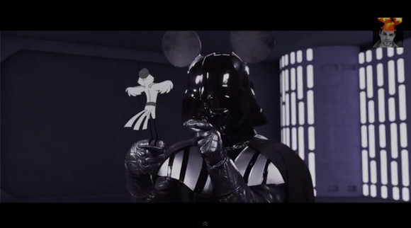 「ディズニー×スターウォーズ」動画がナナメ上行きすぎ! ダース・ベイダーがミッキー声で「アハ♪」とか言っていてビビった