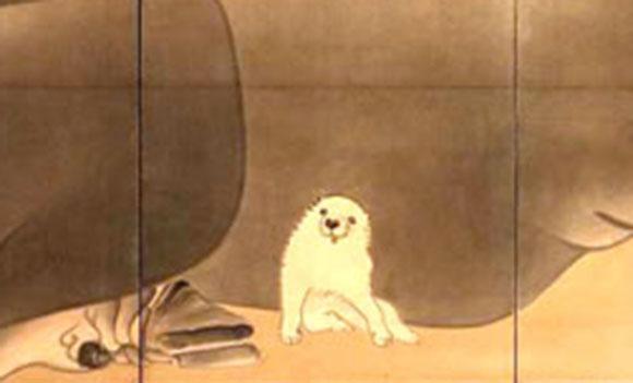 【キュン死】江戸時代の屏風に描かれたワンコが超絶可愛いと話題に