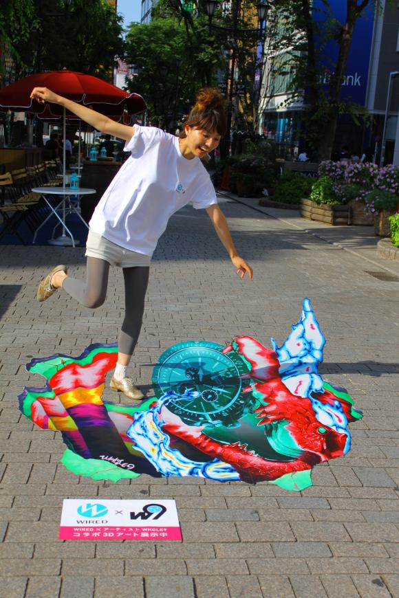 【必見スポット】新宿で遭遇した超リアル「3Dアート」に開いた口がふさがらなくなった件