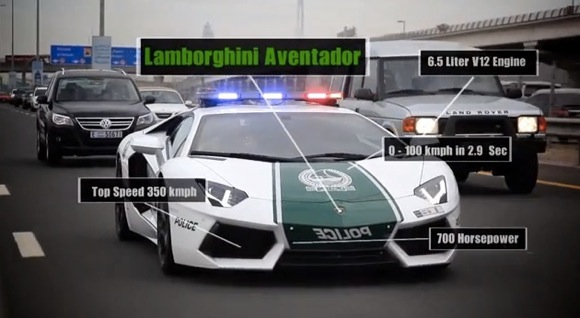 【スーパーカー】ドバイ警察のパトカーが世界一速いことが一発で分かる動画が激カッコイイ