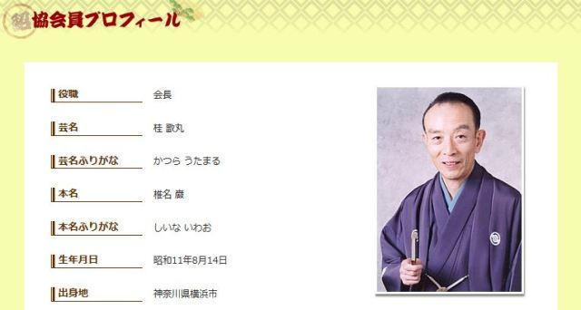 【知っ得情報】歌丸師匠の本名がカッコイイと話題