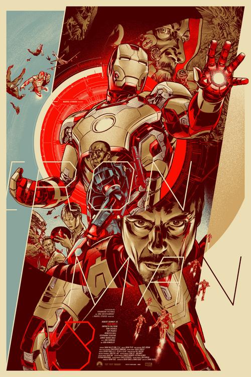 海外アーティストが描いた『アイアンマン3』のポスターが激カッコイイと話題