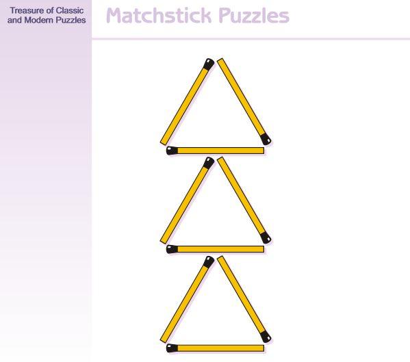 【頭の体操クイズ】マッチ棒を3本動かして正三角形を4つ作ってください
