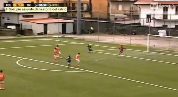 【衝撃サッカー動画】バックパス → キーパーが大きくクリア → ボールが戻ってきて自殺点