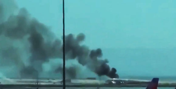 【衝撃動画】アシアナ航空事故の瞬間が動画で公開される! 撮影者「オーマイガー!!」