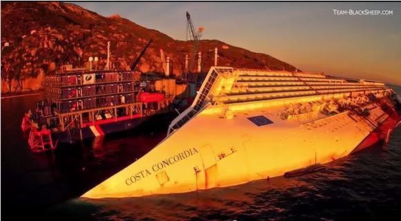 【禁じられた映像】イタリア豪華客船座礁事故の現場映像が公開 / 現場は禁止区域で撮影者は逮捕